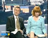 Joanne Malin leggy ITV news presenter