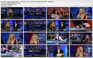 Candice Swanepoel - Interview on NFL Today - November 29, 2009 - 720p