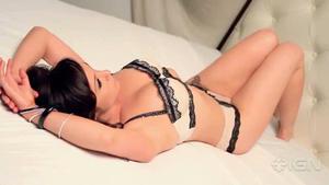 Danielle Harris @ Cherie Roberts Photoshoot for IGN Website (2011) [undies]