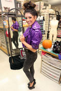 Shenae Grimes-Shows Halloween Costume for Teen Vogue